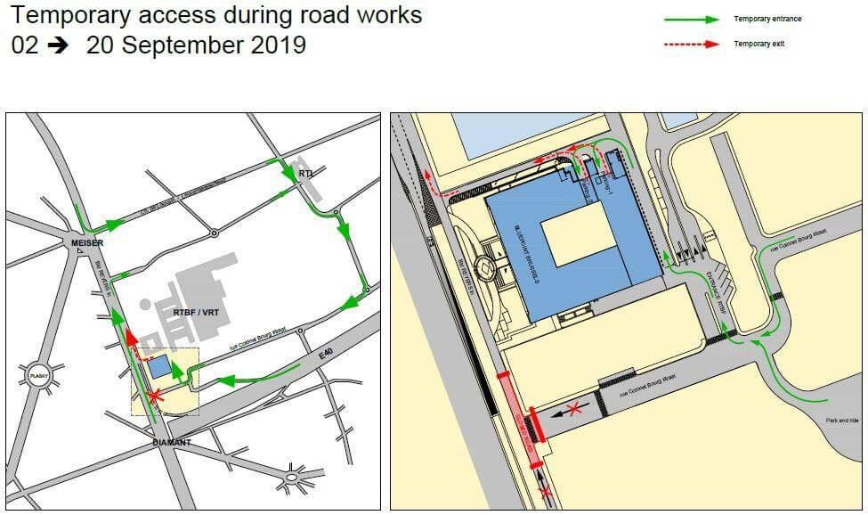 map roadworks BluePoint Brussels