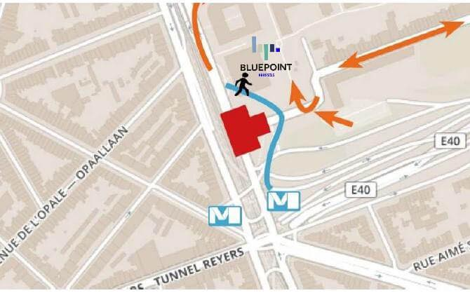 map roadworks BluePoint Brussels 2