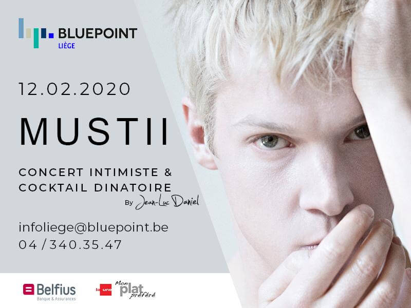 mustii concert bluepoint liege corporate event